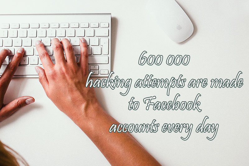 600000 hacking attempts are made to Facebook accounts every day